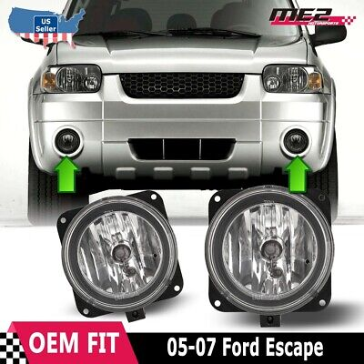 2004 2005 Ford Ranger clear fog lights lamps bumper pair with bulbs