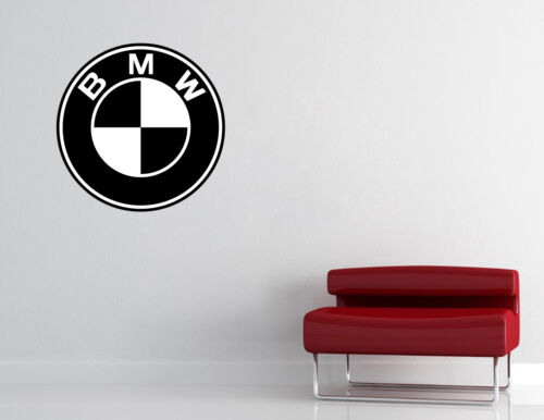 BMW BADGE Wall Decal Decor Bedroom Garage Big Wall Car Logo Sticker Decal