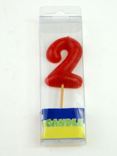 Kerze Zahl 2 Geburtstag Geburtstagsparty für 12 20 25
