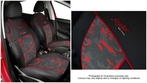 2 X CAR SEAT COVERS pair for front seats fit Ford Focus VEST SHAPE red