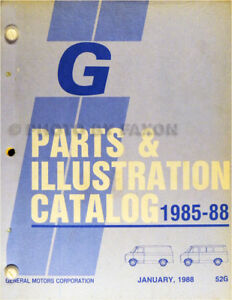 1985-1988-Chevy-and-GMC-G-Van-Parts-Catalog-Illustrated-Book-Rally-Vandura