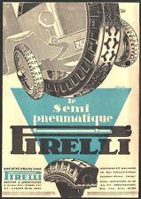 Catalogue pneumatiques Pirelli vers 1930