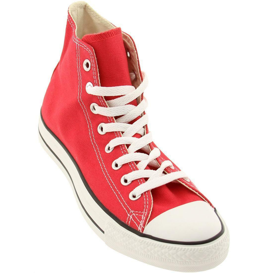 CONVERSE CHOCK TAYLOR ALL STAR HI CANVAS MEN skor röd M9621 storLEK 13 ny