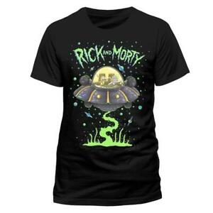 RICK-AND-MORTY-T-Shirt-Space-Cruiser-Ship-OFFICIAL-NEW-S-M-L-XL-XXL