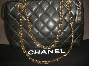 e6d6cbc44ec3 Image is loading CHANEL-Vintage-Quilted-lambskin-Jersey-Tote-Shoulderbag-w-