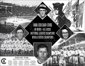 4e982634 Details about 1908 Chicago Cubs Composite Photo 11X14 - Brown Tinker Evers  Chance World Series
