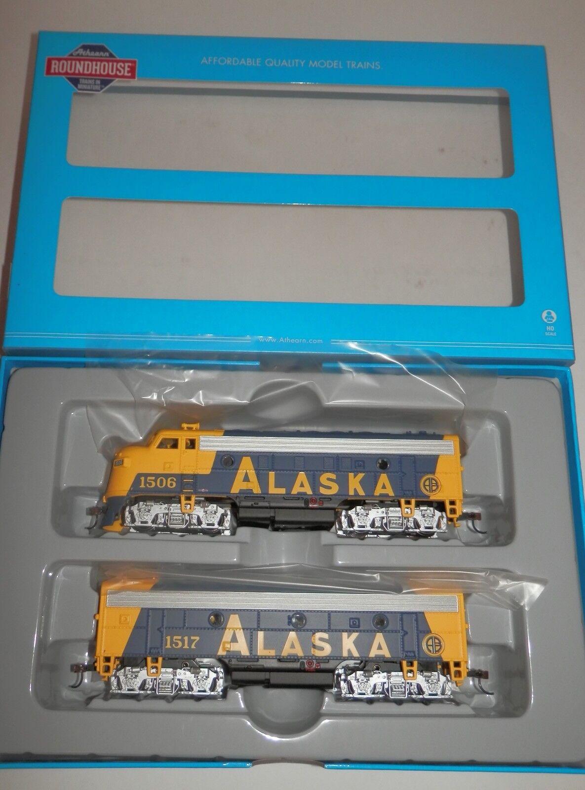 Roundhouse HO Scale POWERED Alaska F7A & DUMMY Alaska F7B  RND82069 NIB