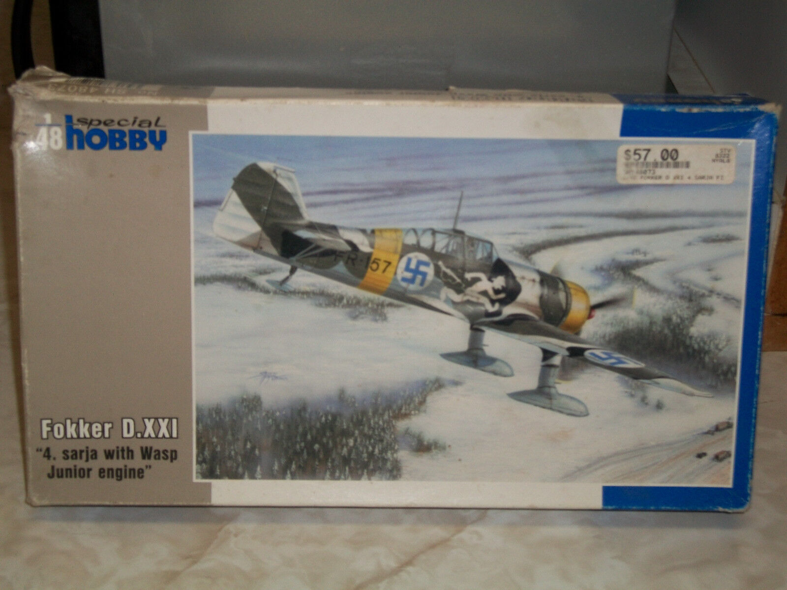 Special Hobby 1 48 Scale Fokker D.XXI  4. Sarja With Wasp Junior Engine