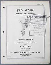 Original Vintage Firestone 12HP Outboard Motor Owners Manual/Parts List (FM112)