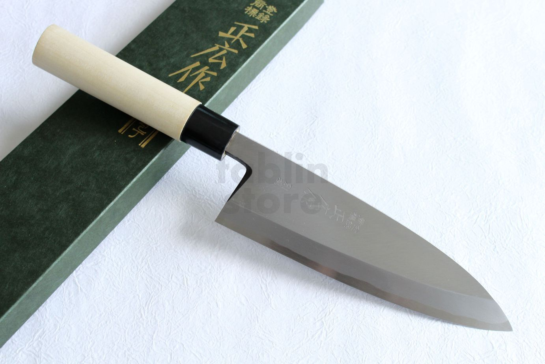 MASAHIRO Bessen Japonais Acier Fire soudage martèlement Artefact Deba Knife