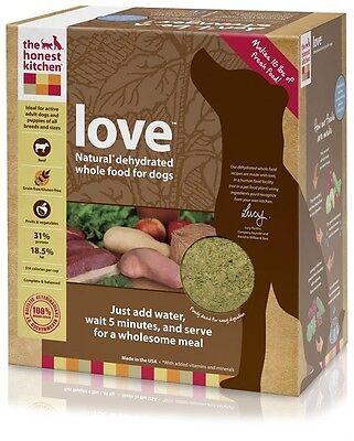 Honest Kitchen Love Dehydrated GrainFree Beef Dog Food 10 lbs