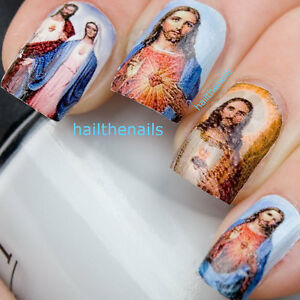 Nail-WRAPS-Nail-Art-Water-Transfers-for-Natural-False-Nails-Jesus-Mary-YD018