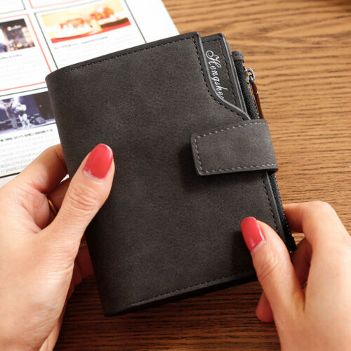 Damen Mini Kurze Mini Brieftasche Leder Kupplung Münze Geldbörse Handtasche