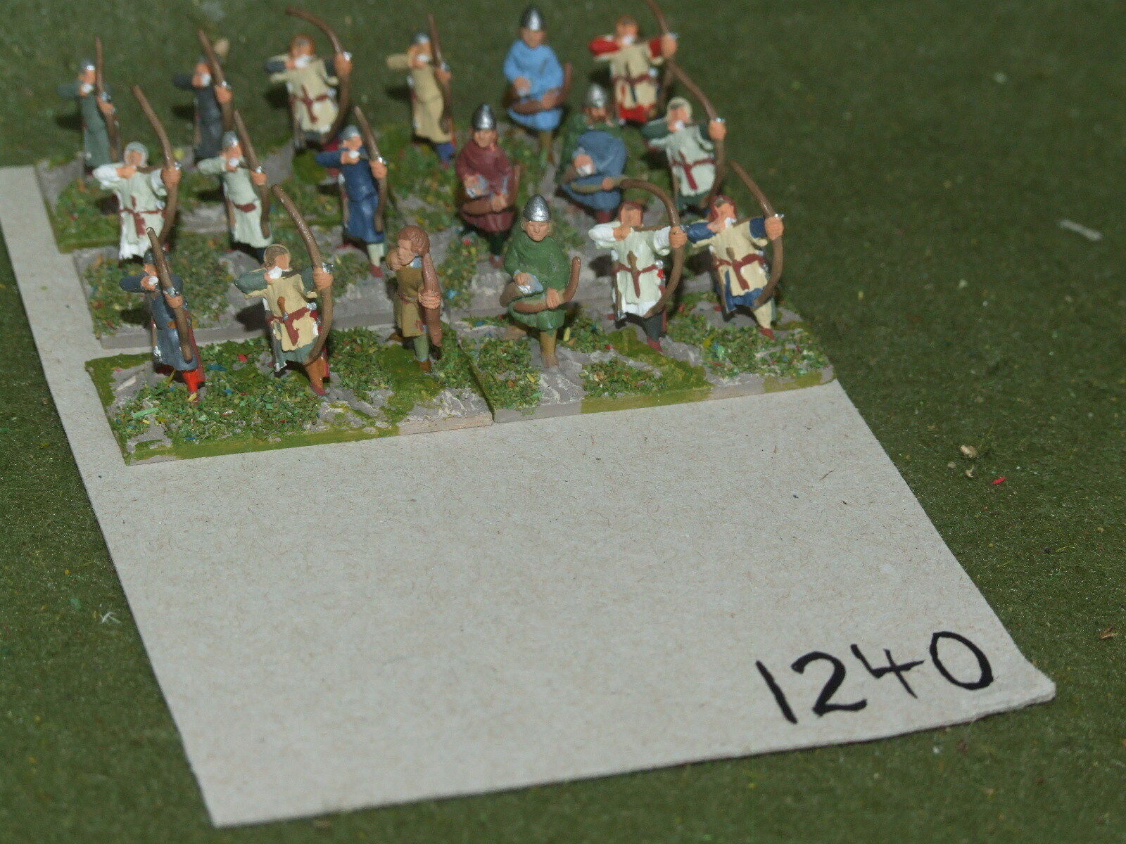 15mm medieval   generic - Infantry Archers 18 Bow - inf (A1240)
