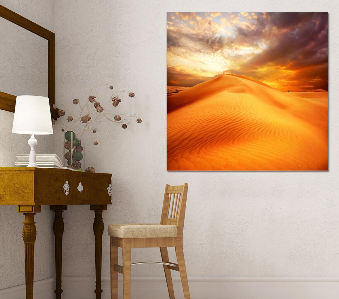 3D goldener Wüsten Himmel  7533 Fototapeten Wandbild BildTapete AJSTORE DE Lemon