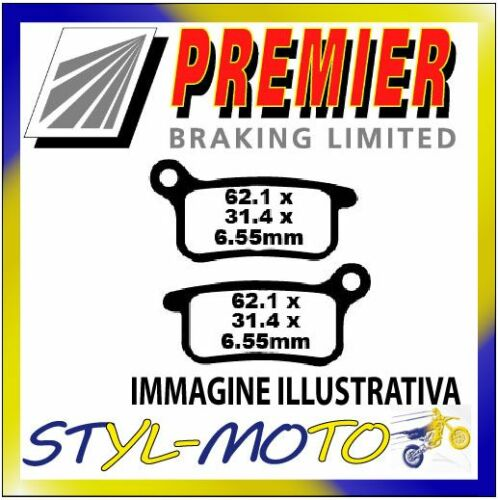 """2005 PASTIGLIE FRENI POSTERIORI ORGANICHE PREMIER KTM SX 85 19""""//16"""" wheels"""