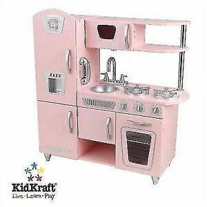 Kidkraft 53179 Vintage Kids Pretend Play Kitchen - Pink