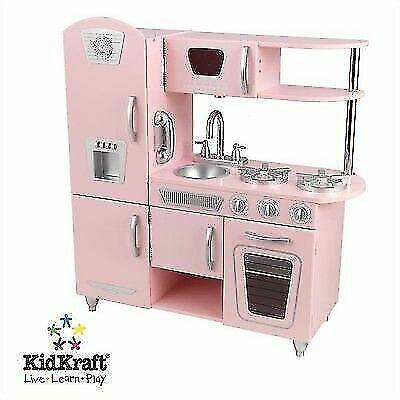 Kidkraft 53179 Vintage Kids Pretend Play Kitchen Pink For Sale Online Ebay