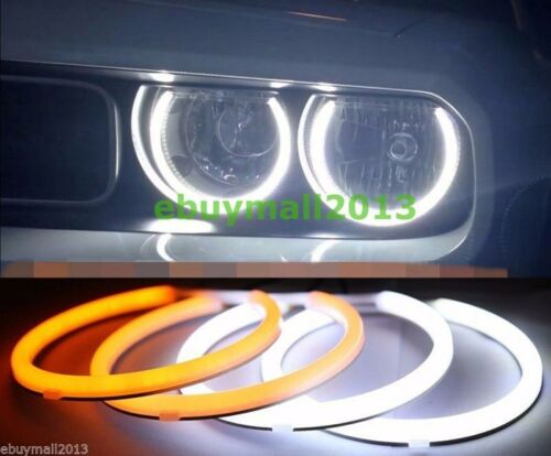 For Dodge Challenger Dual Color WH&YE Cotton LED Angel Angel Eye Halo Rings DRL