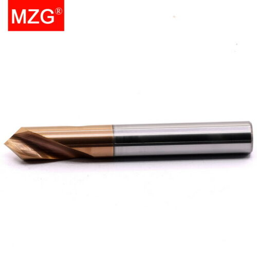 MZG 90 Degree Tungsten Carbide Steel Spot CNC Chamfer Ti-Coated Point Drill