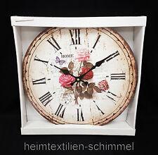 Italienische Wanduhr Uhr ROSEN Wanddekoration rustikale Küchenuhr Deko Küch 33cm