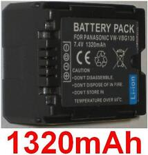 Akku 1320mAh typ VW-VBG130 VW-VBG130E1K Für Panasonic HDC-TM350