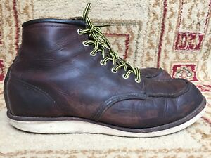 RED-WING-8138-Briar-Brown-Oil-Leather-Classic-6-034-Moc-Toe-Work-Boot-Men-12-D