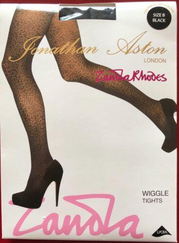 Jonathan Aston Zandra Rhodes Wiggle Tights Pantyhose black size B