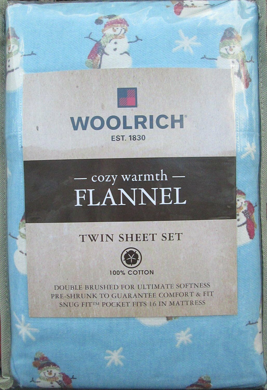Woolrich Cozy Warmth Warmth Warmth Flannel Twin Sheet Set - Snowman 9628ed