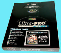 100 Ultra Pro Platinum 1-pocket 8.5x11 Pages Sheets Photo Comic Book Magazine