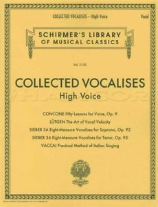 Collected Vocalises Pour Voix élevée Vocal Sheet Music Book Concone Lutgen Vaccai-afficher Le Titre D'origine