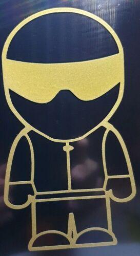 """/""""THE GOLDEN STIG/""""  racing top gear bumper window sticker  car van motorcycle"""