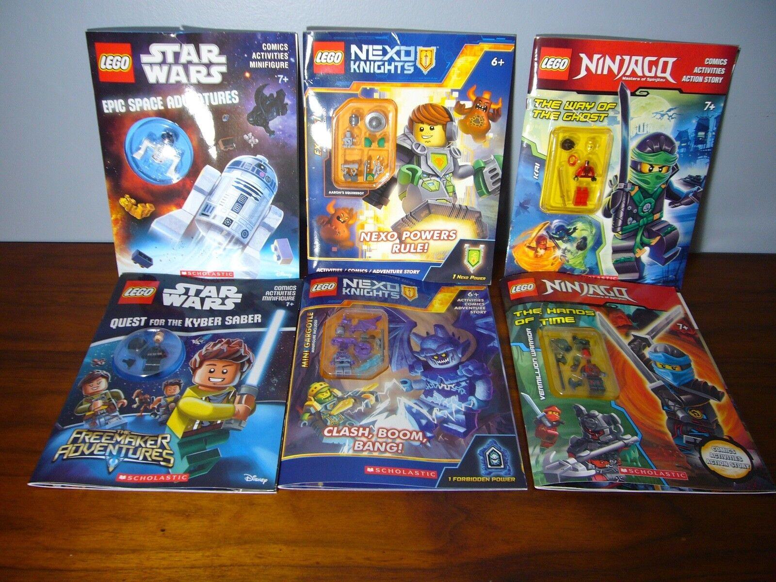 6 LEGO Ninjago estrella guerras  NEXO Lot Activity libro Mini figs nuovo Minicifras  grandi risparmi