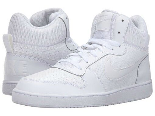 Nike Court Borough Mid Top Trainers Womens White Sports Trainers Sneakers Rapid Heat Dissipation Clothing, Shoes & Accessories