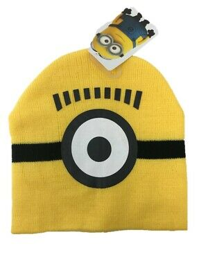 Minions boys hat knitted winter hat with gloves one size