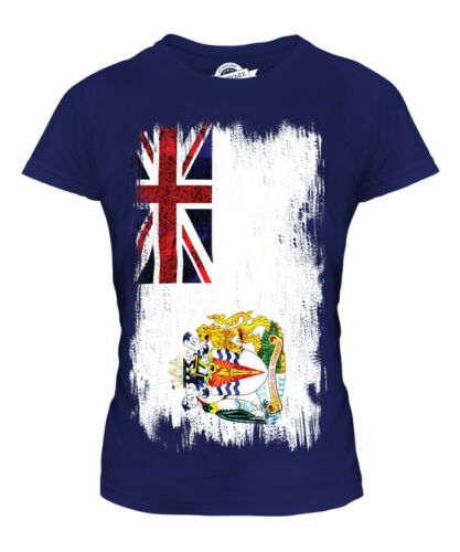 BRITISH ANTARTIC TERRITORY GRUNGE FLAG LADIES T-SHIRT TEE TOP FOOTBALL SHIRT