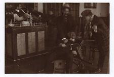 PHOTO ANCIENNE Étrange Drôle Dispute Bagarre Vers 1900 Corde Amusement Groupe