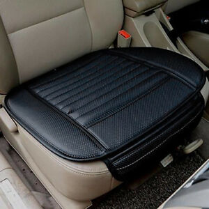 car front seats cover pu leather black single bucket seat protector mat cushion ebay. Black Bedroom Furniture Sets. Home Design Ideas