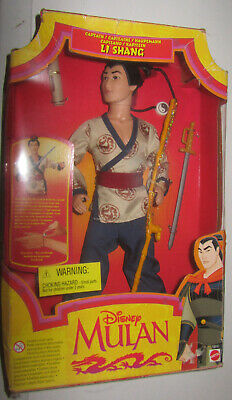 Glorioso Mulan Capitano Li Shang Bambola Mattel Disney Nuova Fashion Doll New Cod 18897