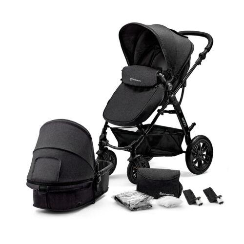 Kinderkraft Pram 2in1 Set MOOV Travel System Baby Pushchair Buggy Foldable Black