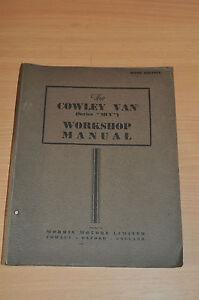 Anleitungen & Handbücher DemüTigen Morris Cowley Van Series Mcv 1951 Werkstatthandbuch Workshop Manual Schnelle WäRmeableitung Service & Reparaturanleitungen