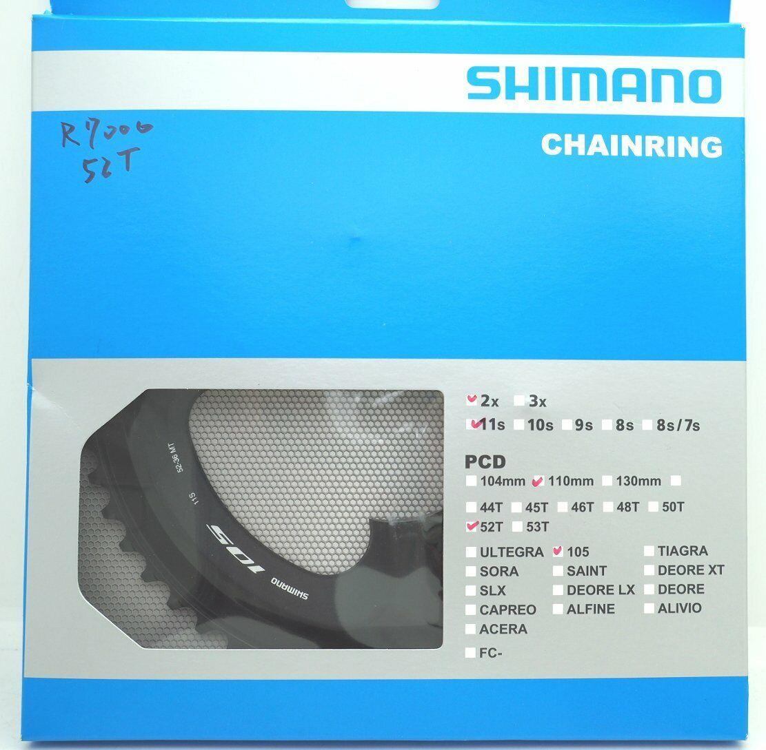 Shimano 105 FC-R7000 PLATO 52T para 52-36T, Negro, 11  SPD, FC-R8000 utilizable  barato y de alta calidad
