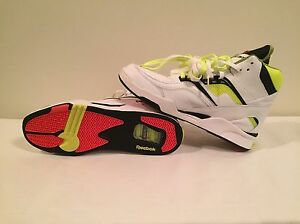 5af624de2b4b Men s Reebok Twilight Zone Pump White Neon Yellow Size 13 New Real ...