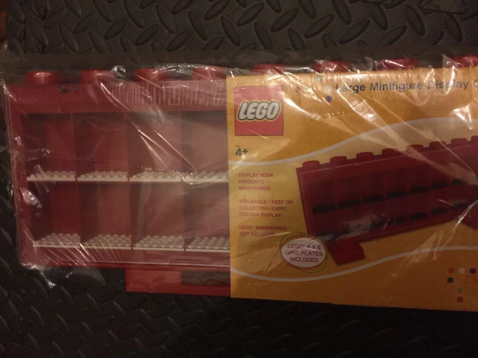 Lego Mini Figure Display Case Rouge Neuf Scellé