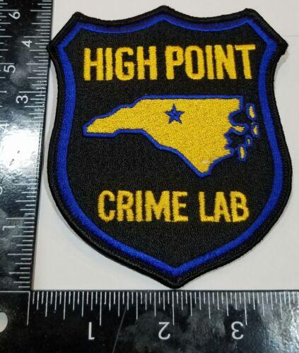 High Point Crime Lab North Carolina Cloth Patch