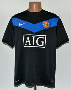 Manchester United 2009/2010 away football shirt jersey Nike taglia L adulto
