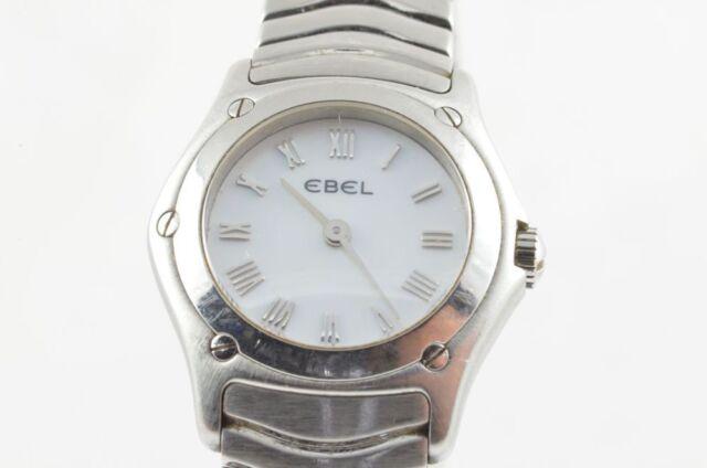 Ebel Classic Wave Women's Watch Steel/Steel Pearl 23MM 9157F11