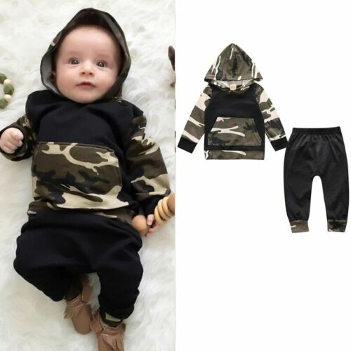Pants Set Kids Clothes Outfits 2Pcs Toddler Baby Boys Girls Dress Hooded Coat