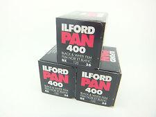 3 x ILFORD PAN 400 35mm 36 Exp CHEAP B&W FILM By 1st CLASS ROYAL MAIL