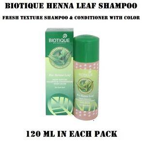 Biotique Bio Henna Leaf Fresh Texture Shampoo Conditioner With